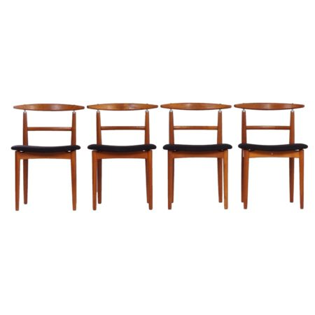Set of four dining chairs by Helge Sibast for Sibast, Denmark in 1962. | Mid Century Design
