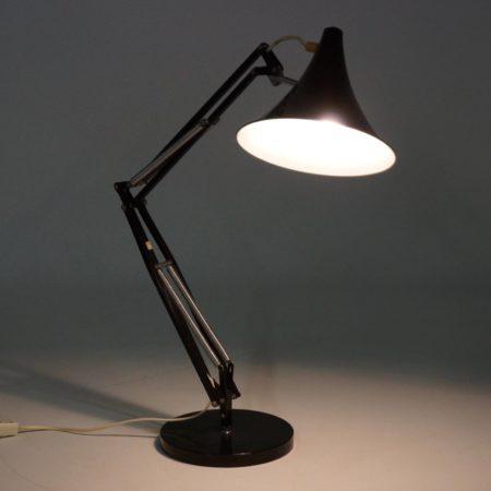 Flexible Hala Desk Light with Tulip Shade, ca 1970s