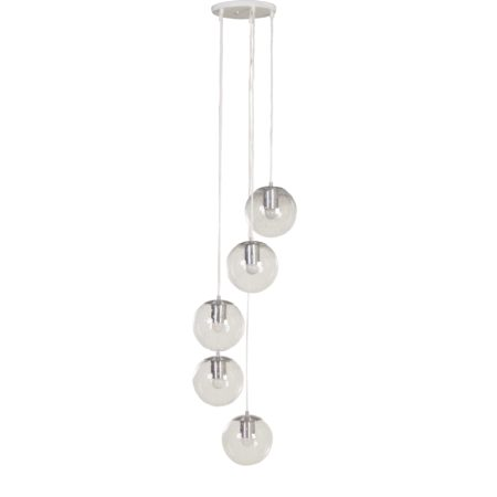 "Raak Chandelier with 5 ""Light Drops"", 1970s 