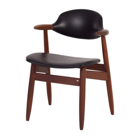 Teak Cow Horn Chair for Tijsseling, ca 1960s | Mid Century Design