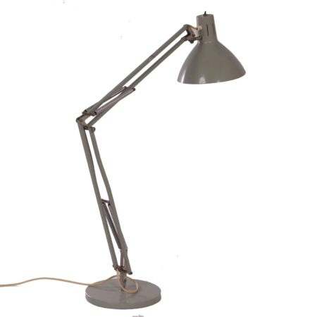 Architects Lamp Model Terry 2 | Grey Industrial Hala Desk Lamp by H. Busquet, ca. 1960 | Mid Century Design