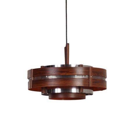 Vintage Hanging Lamp with Wood Grain Pattern, ca 1970 | Mid Century Design