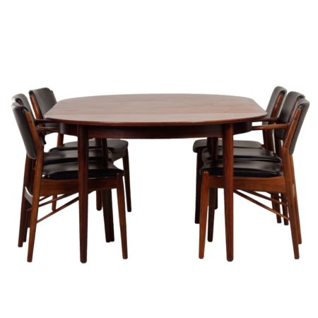 Extra Large Rosewood Dining Set by Arne Vodder for Sibast, Denmark ca. 1960s