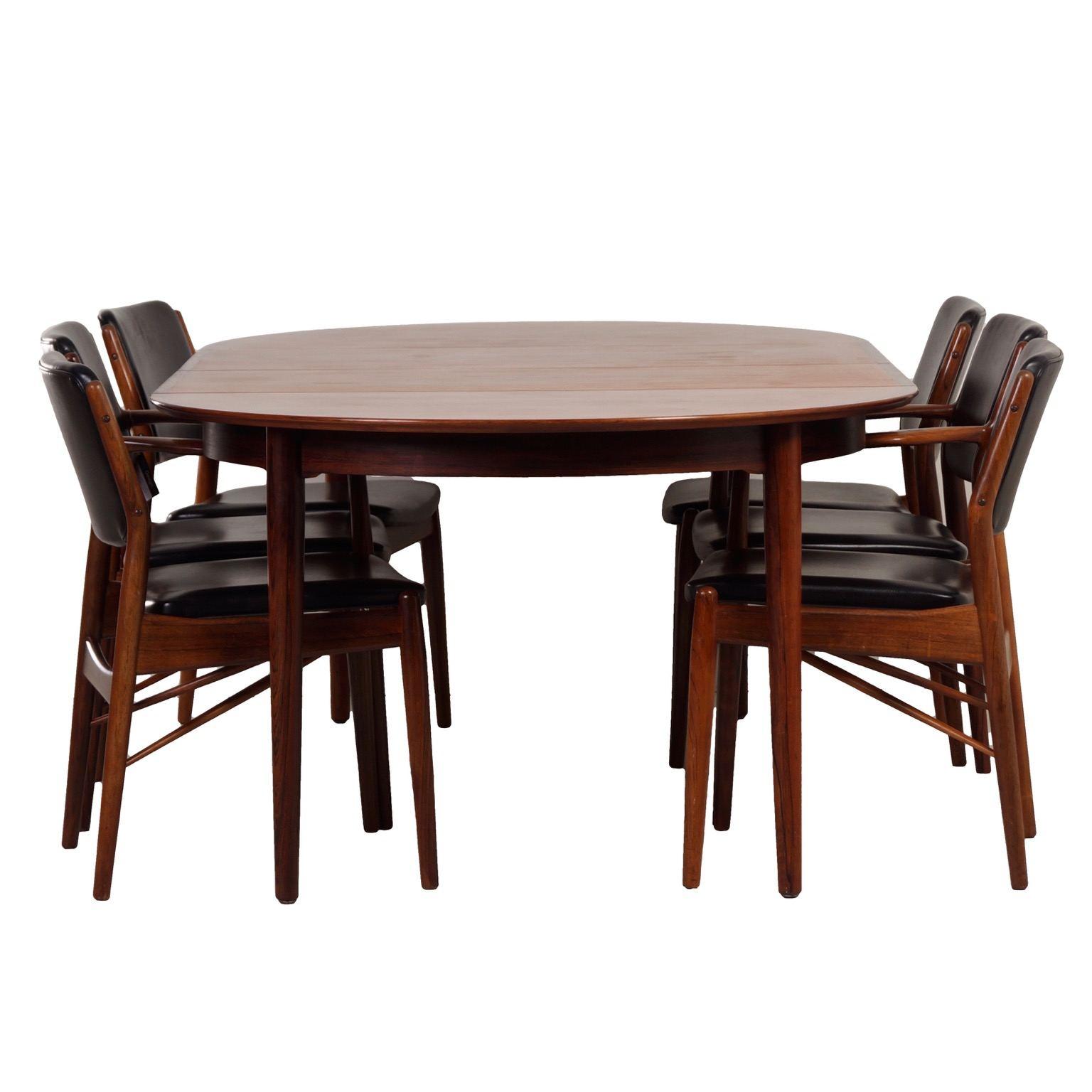Vintage Design Rosewood Dining Set By Arne Vodder For Sibast