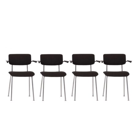 Model 1235 Tubular Chairs by Gispen, 1960s | set of 4 | Mid Century Design