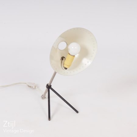 White Pinocchio Lamp by H. Busquet for Hala ca. 1950s