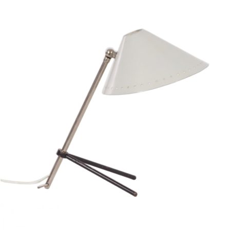 White Pinocchio Lamp by H. Busquet for Hala ca. 1950s | Mid Century Design