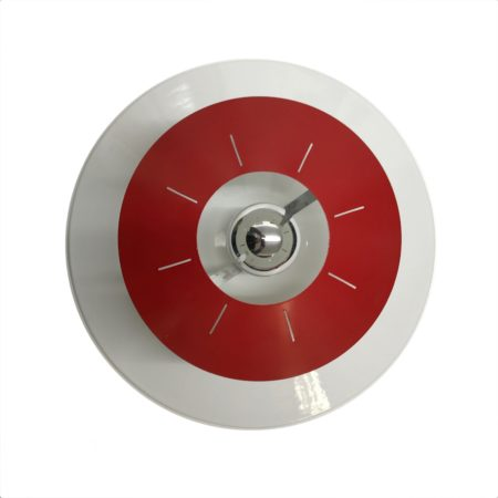 Space Age Ceiling or Wall Light by Louis Kalff for Philips, ca 1958 | Red and White | Mid Century Design