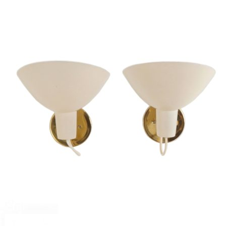 Visor Wall Lights by Vittoriano Vigano for Arteluce, ca 1950 | set of 2 | Mid Century Design