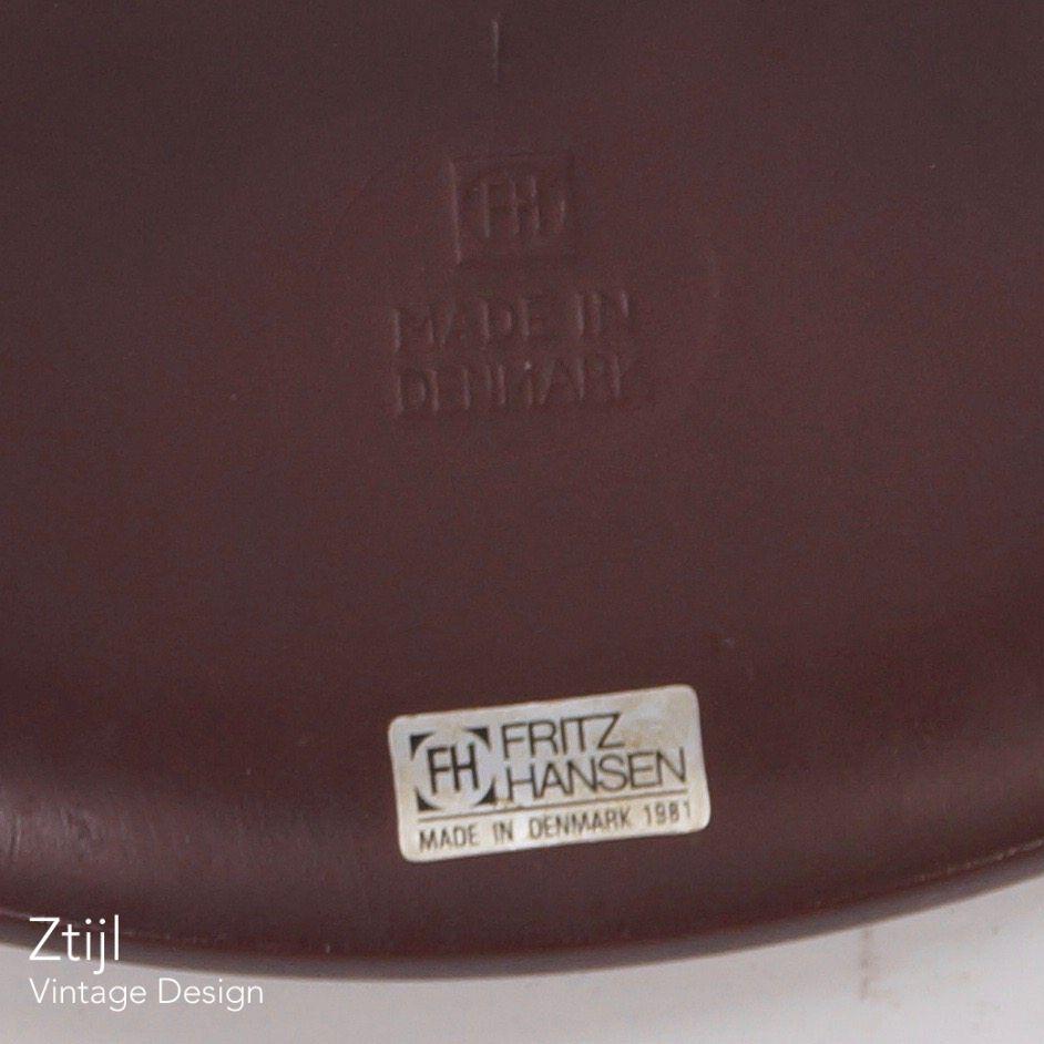 Vintage Danish Dot Stool 3170 By Arne Jacobsen For Fritz