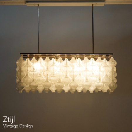Unique Kalmar Tulipan Pendant Lamp with 162 Glass Elements, Austria 1960s