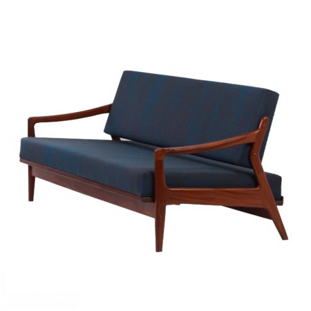 Sleeping Sofa by Louis van Teeffelen for Wébé in about 1960s | Reupholstered | Mid Century Design