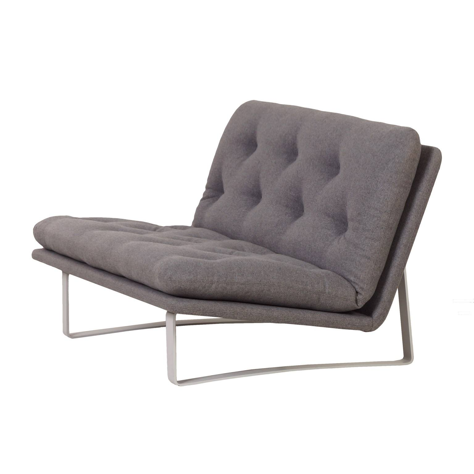 Artifort Design Bank.Grey C684 Sofa By Kho Liang Ie From Artifort 1960s
