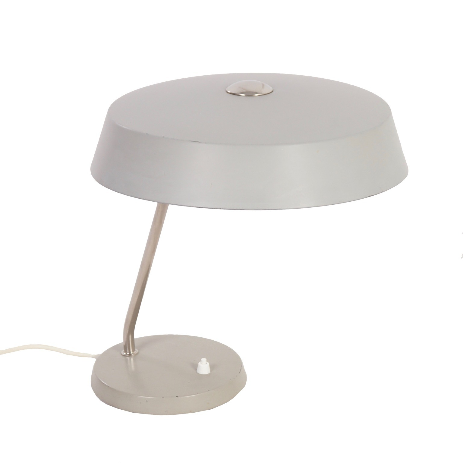 Mid century design table lamps ztijl philips desk lamp 1960s grey metal table lamp aloadofball Image collections