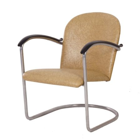 414 Tubular Armchair by W.H. Gispen for Gispen, 1960 | Mid Century Design