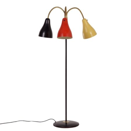 Fifties Hagoort Floor Lamp in the Rietveld Colors Black, Red and Yellow | Mid Century Design
