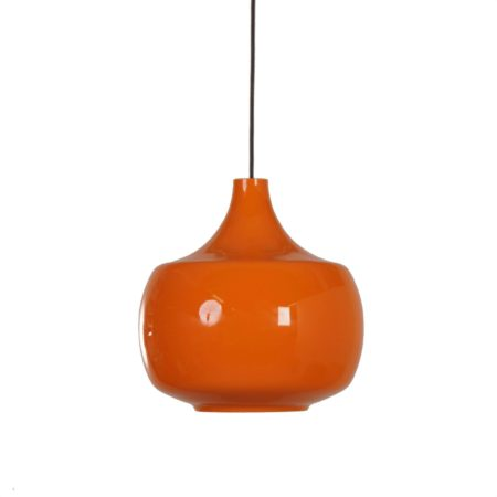 Orange Murano Pendant Lamp by Paolo Venini for Venini & C, 1960s Italy | Mid Century Design