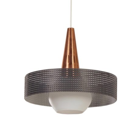 Perforated Vintage Pendant in the style of Pilastro and Mategot – 1960s | Mid Century Design