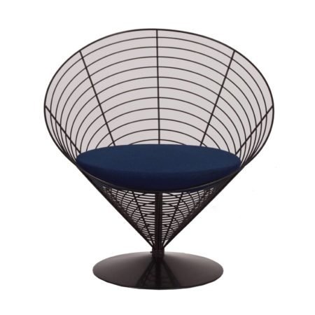 Wire Cone Chair by Verner Panton for Fritz Hansen, 1988 – Blue | Mid Century Design