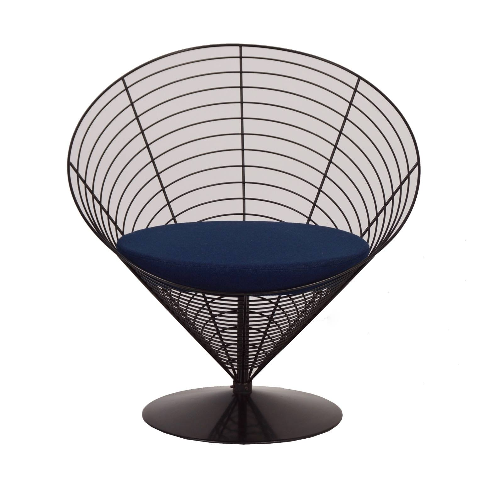 vintage wire cone chair by verner panton for fritz. Black Bedroom Furniture Sets. Home Design Ideas