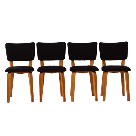 Birch Dining Chairs by Cor ALONS for Den Boer Gouda, 1948 – set of four | Mid Century Design