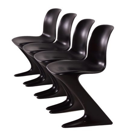 Kangaroo Chairs by Ernst Moeckl for Horn, 1968 – set of four | Mid Century Design