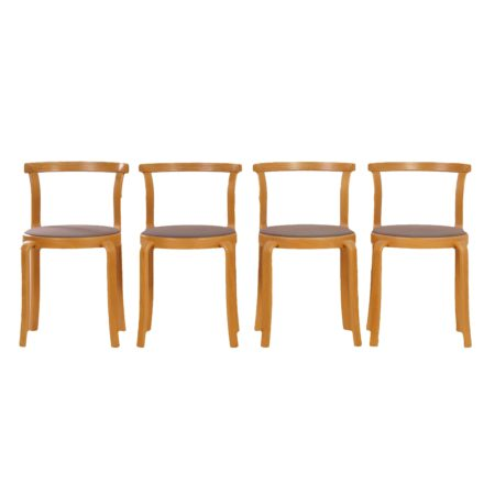 Danish Dining Chairs by THYGSEN & SØRENSEN  for Magnus Olesen, 1981s | set of four | Mid Century Design