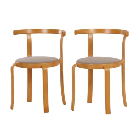 Danish Dining Chairs by THYGSEN & SØRENSEN  for Magnus Olesen, 1981s | two pieces | Mid Century Design