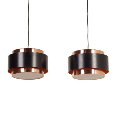 Pair of Saturn Pendant Lamps by Jo Hammerborg for Fog & Morup, 1966 | Mid Century Design