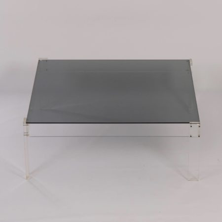 Big Square Coffee table Made of Perspex and Glass, 1970s