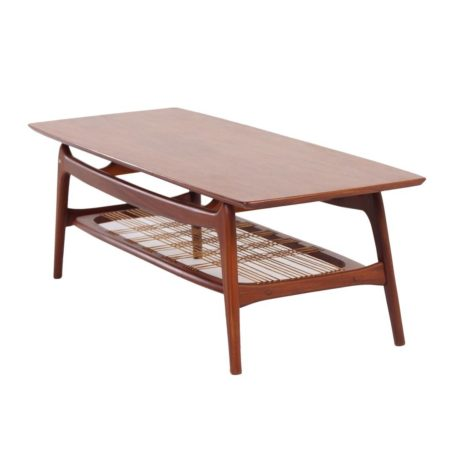 Teak Coffee Table by Louis van Teeffelen for Wébé, 1960s | Mid Century Design
