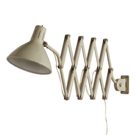 Industrial Hala Scissors Wall Light '110' by H. Busquet, 1960s – Off White | Mid Century Design
