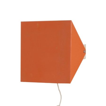 Doria Wall Lamp by Wilhelm Braun Feldweg, 1962 – Salmon Red | Mid Century Design