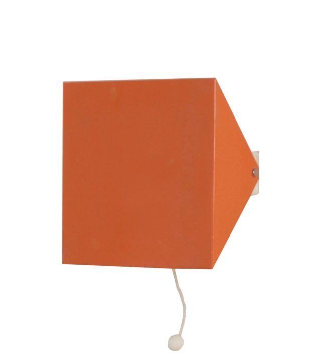 Doria Wall Lamp by Wilhelm Braun Feldweg, 1962 – Salmon Red | Mid Century Design