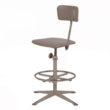 Industrial Working Chair by Friso Kramer for Ahrend de Cirkel, 1960s – Grey | Mid Century Design