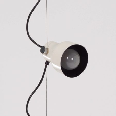 Gepo Hanging Lamp with Three White Spots, 1970s
