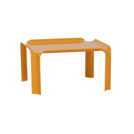 Small Yellow Coffee Table 877 by Pierre Paulin for Artifort, 1960s | Mid Century Design