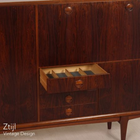 Rosewood PSR-130 Highboard by Marten Franckena for Fristho, 1962
