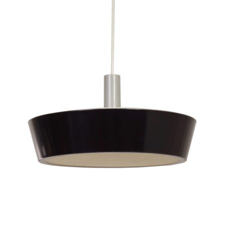 Large Black Hiemstra Evolux hanging Lamp, 1960s | Mid Century Design