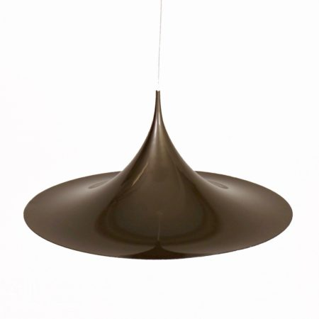 Silver Grey Semi Pendant by Bonderup & Thorup for Fog & Morup, 1967 – 59 cm | Mid Century Design