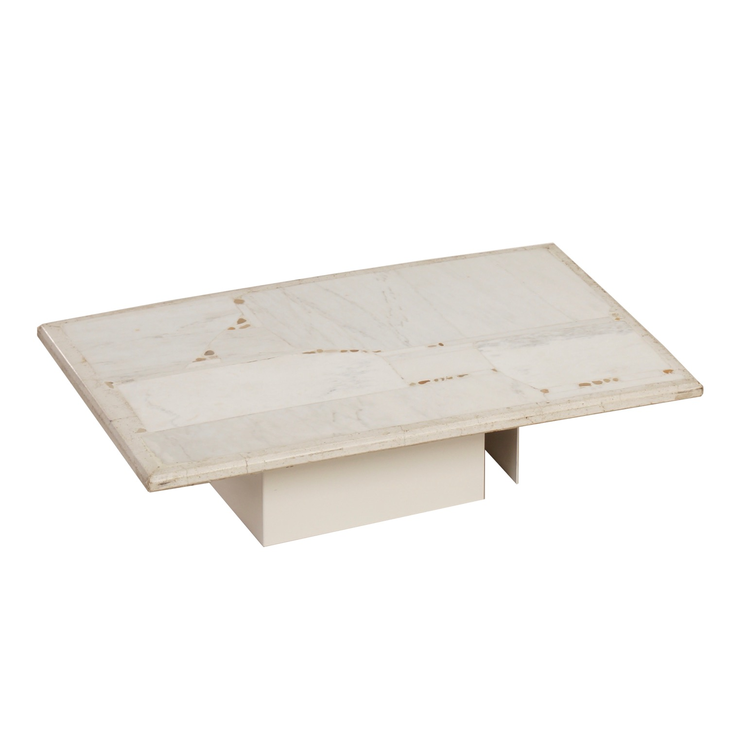 White Marble Coffee Table by Paul Kingma, 1982 | Mid Century Design