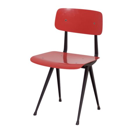 Rose Red Result Chair by Friso Kramer and Wim Rietveld for Ahrend the Circel, 1958 | Mid Century Design