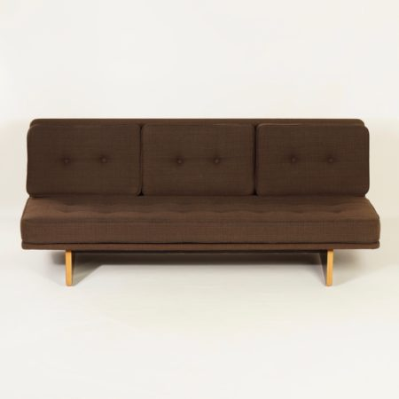 671 Sofa by Kho Liang le for Artifort, 1960s | Three Seater with Brown Ploeg Fabric