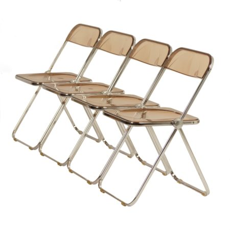 Plia folding Chairs by Giancarlo Piretti for Castelli, 1960s – Set of 4