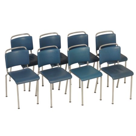 Gispen 106 Chairs by W.H. Gispen, 1960s | Set of Eight | Mid Century Design