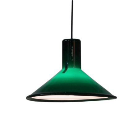 Green P&T Pendant by Michael Bang for Holmegaard, 1970s | Mid Century Design