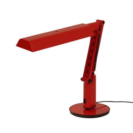 Red Lucifer Desk Lamp by Fagerhults  '1970s | Mid Century Design