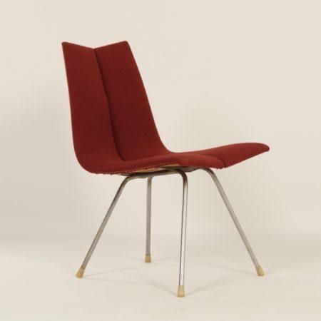 'GA' Chair by Hans Bellmann for Horgenglarus, 1955 – Red
