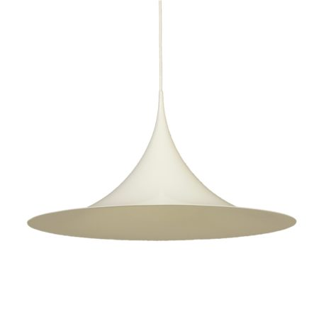 White Semi Pendant by Bonderup and Thorup for Fog & Morup, 1960s – 70 cm | Mid Century Design