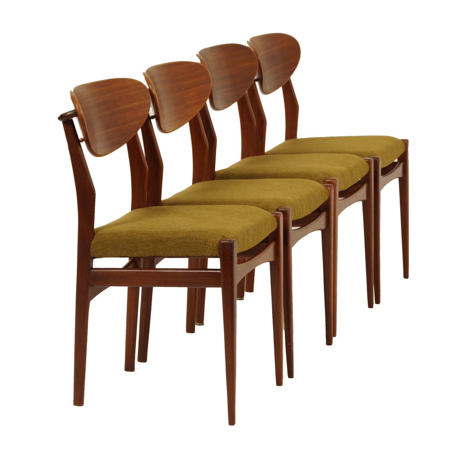 Dining Chairs by Louis van Teeffelen for Wébé, 1960s – Set of 4 | Mid Century Design